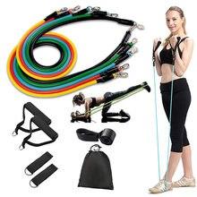 11 шт/компл латексные резинки для дома спортзала тренировок