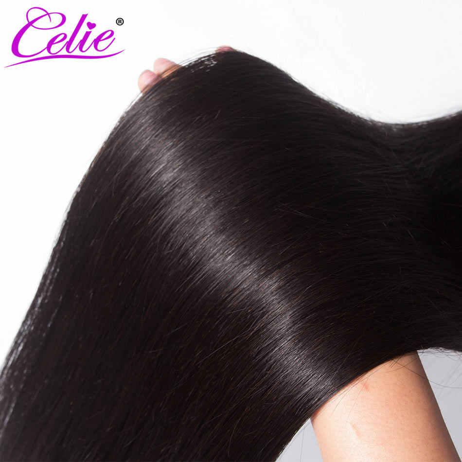 Celie Straight Hair Bundles Remy Human Hair Extension 28 30 32 34 36 38 40 inch Brazilian Straight Human Hair Weave Bundles