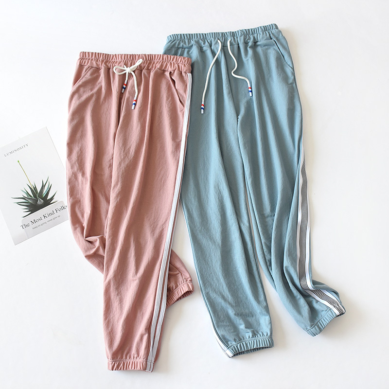 JULY'S SONG Plus Size Pants Sleep Bottoms Pajamas For Women Casual Loose Elastic Long Sleep Pants Solid Female Homewear Summer