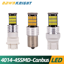 2PCS T20 7443 T25 3157 1157 BAY15D 1156 BA15S Led Car Tail Brake Light 4014 45SMD Canbus No Errors 12V 24V  Signal Lamp