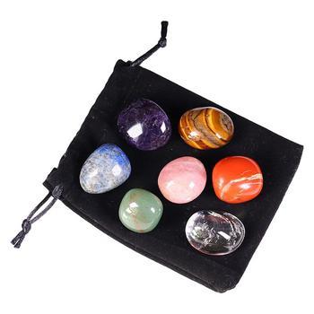 7 sztuk naturalne kryształowe kamienie masażu kamienie mocy kamienie prezenty świąteczne kamień naturalny kryształowe kamienie do masażu wystrój tanie i dobre opinie RUIMIO CN (pochodzenie) Other BODY
