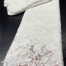 Lace-Fabric Cord Guipure-Milk-Silk Nigerian Wedding-Ya3895b-1 African for Party Pure-White