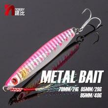 NOEBY plomb gabarit de pêche leurre lent gabarits 78 85 95mm 21 28 40g 3D yeux dur plomb poisson mer appât NBL1004N pour bar de mer leurre de pêche