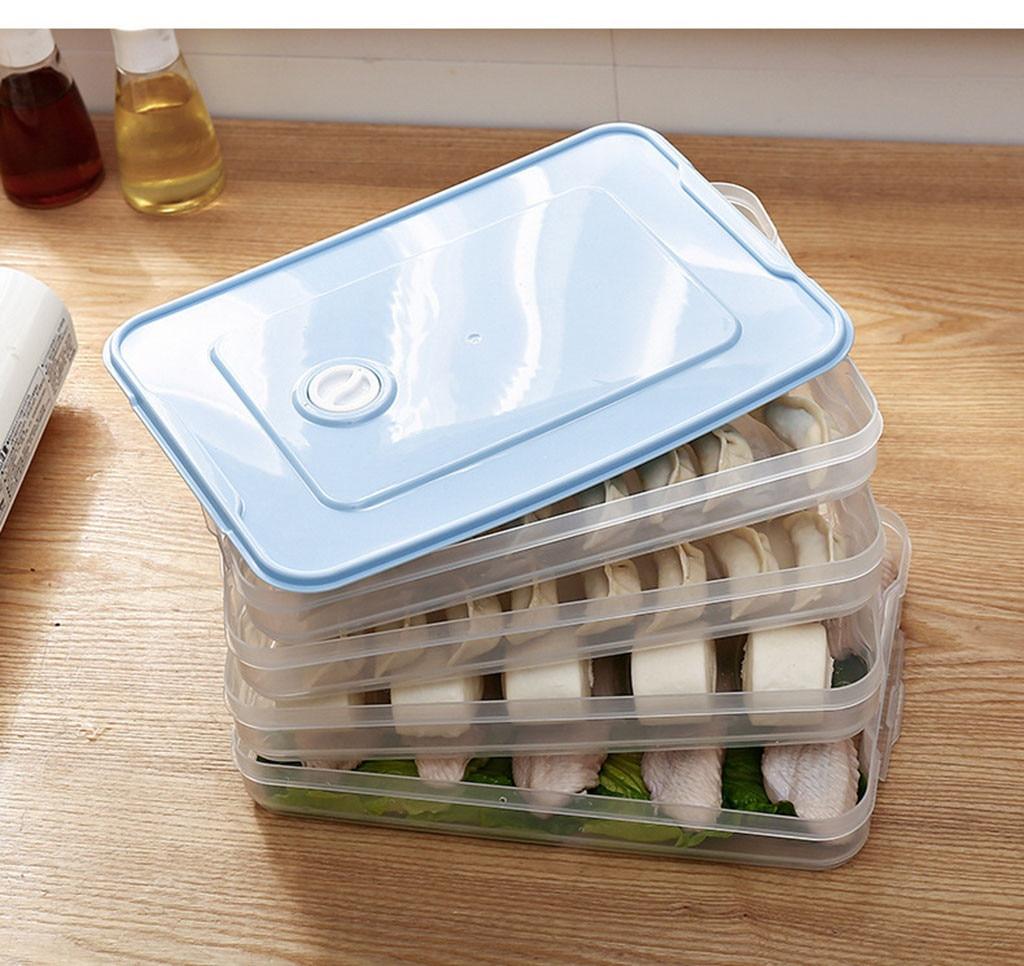 Пластиковые корзины для хранения холодильник коробка для хранения продуктов контейнеры для хранения с крышкой для кухни холодильник шкаф ...