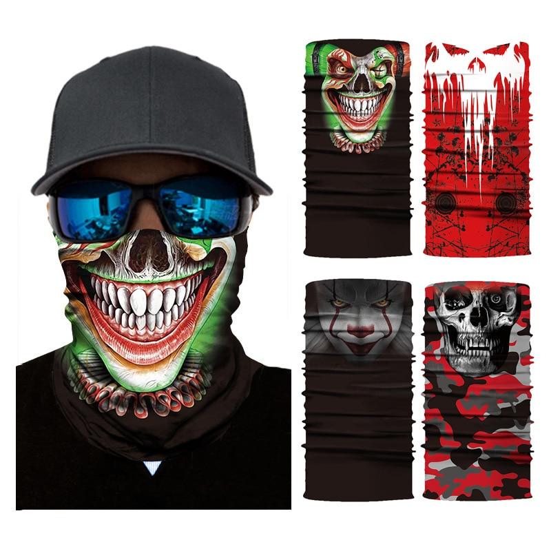 3D Ciclismo Sem Costura Bandanas Lenço Crânio Motocicleta Máscara Facial Neck Escudo Máscara Gaiter Buffs Cachecol Multifunções