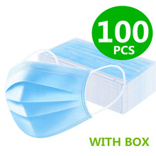 100/50/30/10Pcs Medical Mask Disposable Face Mouth Mask Filter Anti Medical Disposable Mask 3-Layers Protective Baby Adult Mask