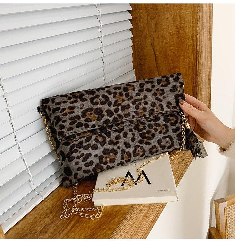 Fashion Leopard Handbag Women's Clutch Bag 3