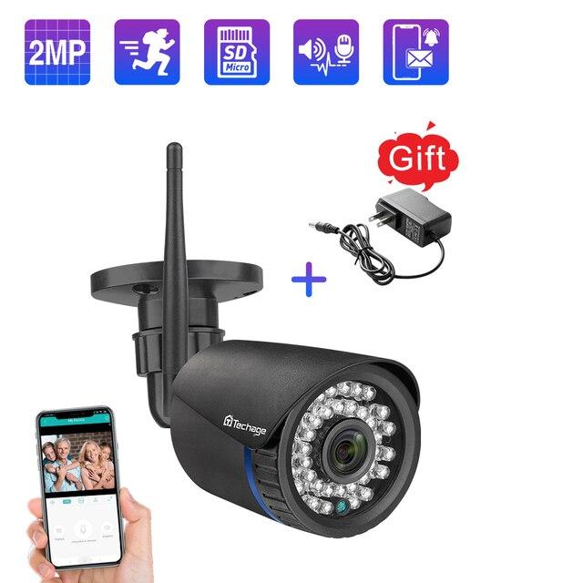 Techage 1080P 2MP Camera Không Dây Tầm Nhìn Ban Đêm Âm Thanh Hai Chiều TF Card Ghi Hình An Ninh Wifi Ngoài Trời camera Quan Sát