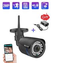 Techage 1080P 2MP 무선 카메라 나이트 비전 양방향 오디오 TF 카드 기록 비디오 보안 와이파이 카메라 야외 CCTV 감시