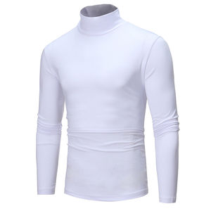 New arrival solid casual autumn Men's Winter Warm Cotton High Neck Pullover Sweater Tops Turtleneck plus size M-2XL