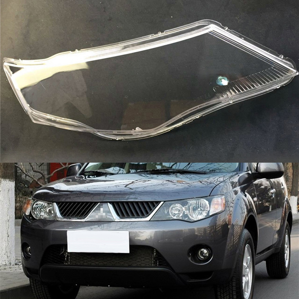Car Headlamp Lens For <font><b>Mitsubishi</b></font> <font><b>Outlander</b></font> EX <font><b>2007</b></font> <font><b>2008</b></font> 2009 Car Replacement Auto Shell Cover image