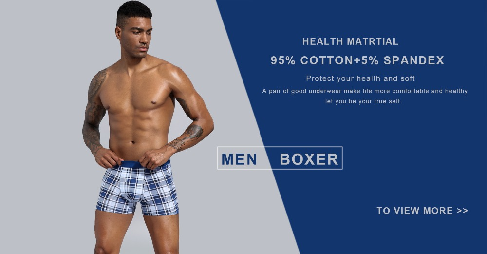 Boxershorts Men European Plus Size Men Boxers Mens Underwear Boxers Cotton Men Boxer Shorts Men Underpants trunks 1pc