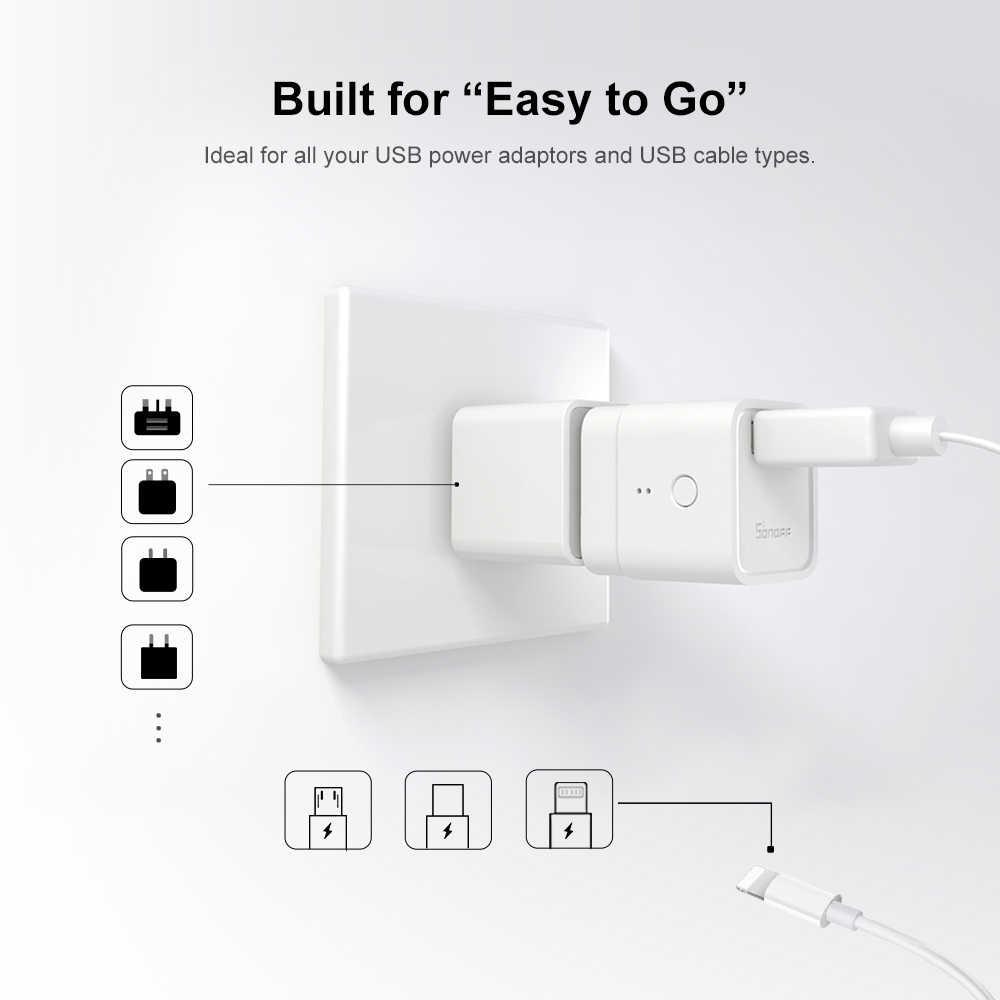 Itead Sonoff Micro 5 в беспроводной USB Смарт-адаптер гибкий и портативный делает usb-устройства умными через приложение eWeLink работать с Алиса Google Home Alexa