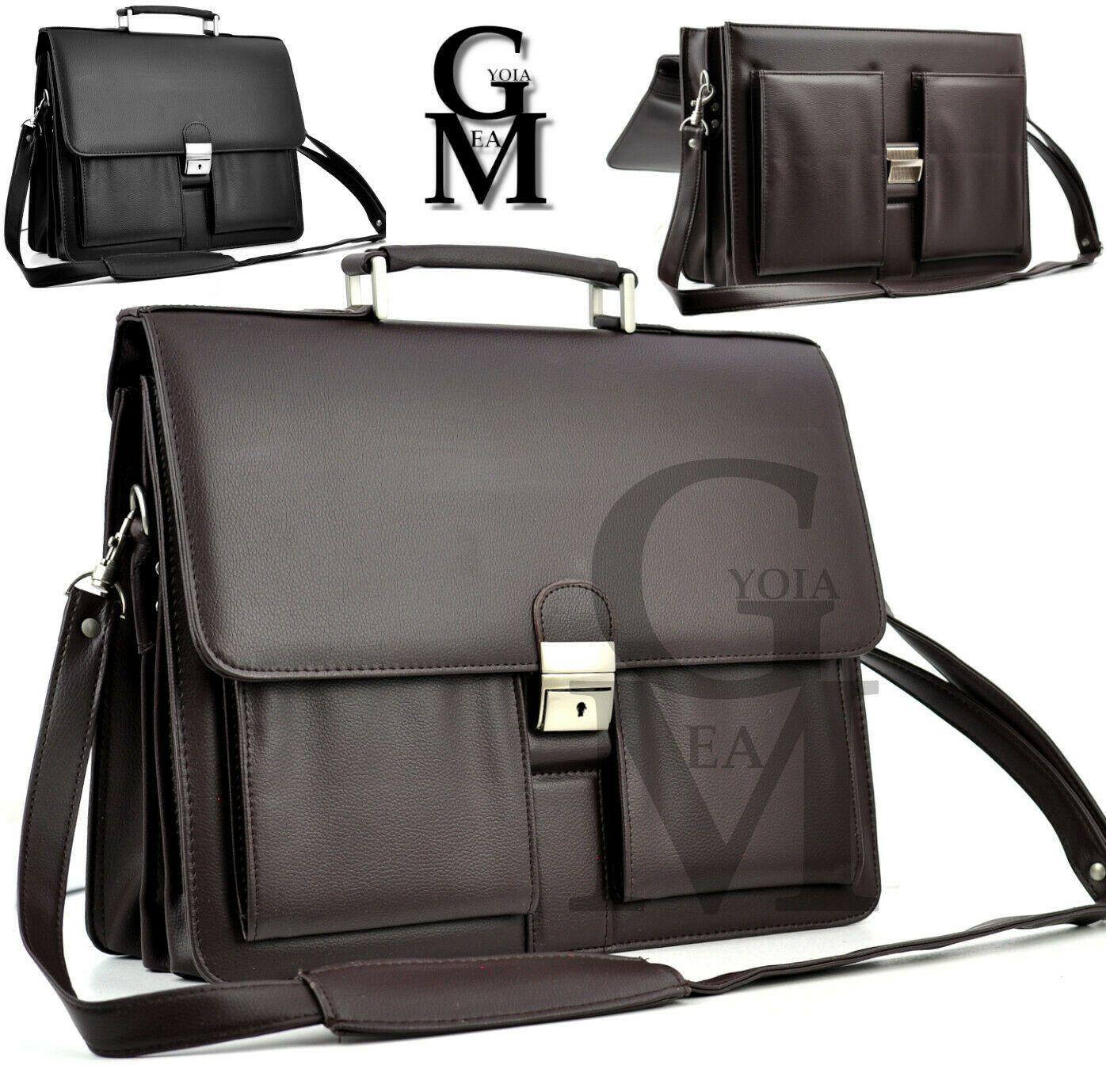 GM Vintage Man Bag Leather Office Shoulder Bag Pc Folder Ipad Doctor Work DOCTOR CASE 24H RIGID LEATHER