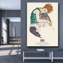 Plakat Egon Schiele siedząca kobieta z zgiętym kolanem druk Egon Schiele plakat wystawowy sztuki Schiele Egon Schiele sketition poste tanie tanio Jack York CN (pochodzenie) Płótno wydruki Pojedyncze Olej Rysunek malarstwo Bezramowe lustra Europa QW885 Malowanie natryskowe