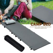 цена на Portable Folding Camping Cot Single Bed Outdoor Aluminum Alloy Ultra Light Camp Beach Accompanying Lunch Break Bed