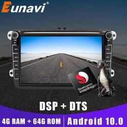 Автомагнитола Eunavi 2 Din для VW Passat B6 Cc Polo Golf 5 6 Jetta Tiguan Touran Skoda Octavia Android мультимедийный плеер 4G + 64G GPS