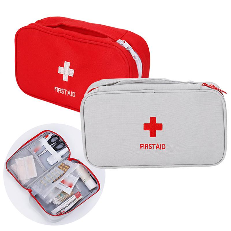 Empty First Aid Kit Emergency Medical Box Portable Travel Outdoor Camping Survival Medical Bag Big Capacity Home Car