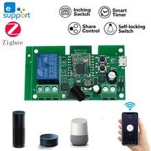 Dc 12v 24v zigbeeリレーモジュールチュウヤホームコントロールブリッジautomatiseringモジュールewelink wifiスマートスイッチ433 rfリモート受信機