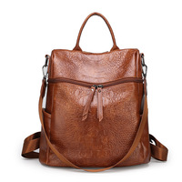 2019 New Style Retro Crocodile Pattern Backpack Europe And America Fashion Multi functional Backpack Manufacturers Direct Sellin