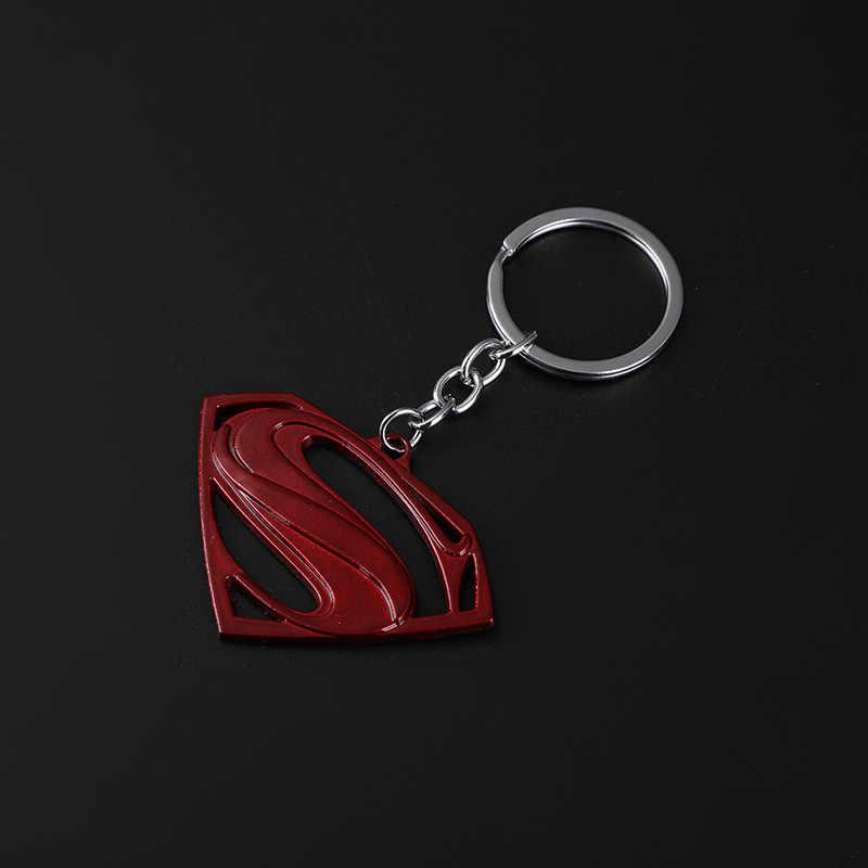 Moda de nova União Avenger Batman chaveiros Saco Chave Titular Charme Pendurado pingente Carro Chaveiro Chave Anel Dos Homens Das Mulheres