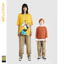 INFLATION Mommy And Me Clothes Father Son Jogger Pants Streetwear Matching Family Outfits Fanily Jogger Pants Loose Fit drawstring spliced camo jogger pants