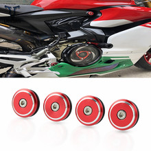 4 pieces Motorcycle Accessories Moto Aluminum Frame Hole Cover For Ducati 1299 Panigale 2015 2016 2017/1299 S 2015-2017