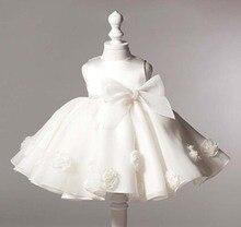 Белое кружевное платье для новорожденных девочек 0-24 месяцев, 2019