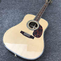 Factory custom 41'' 45 D 20 frets pearl inlay and binding acoustic guitar without EQ,colorized shell edge free shipping