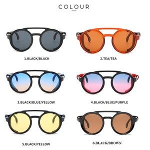 Image 4 - KEITHION di Modo Steampunk Occhiali Da Sole Rotondi Occhiali Da Sole Del Progettista di Marca Degli Uomini Delle Donne Dellannata Occhiali Da Sole UV400 Shades Occhiali