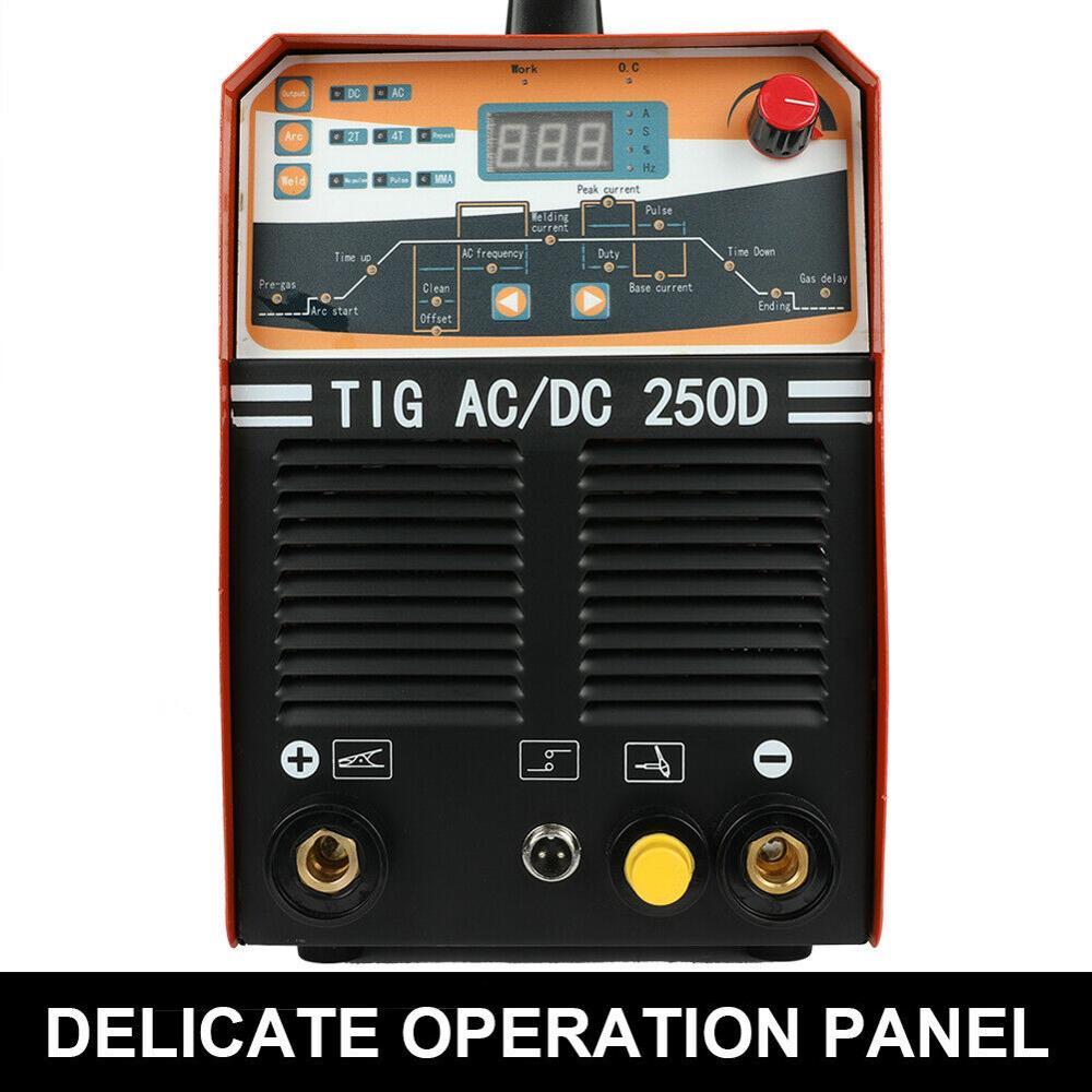 Tools : 230V 250AMP AC DC Pulse TIG MMA IGBT Inverter 2-in-1 Welding Machine 2T 4T