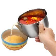 Многофункциональный соусник из нержавеющей стали, жировой сепаратор для супа, масленка, фильтр, миска для дома, кухни, инструменты для приготовления пищи
