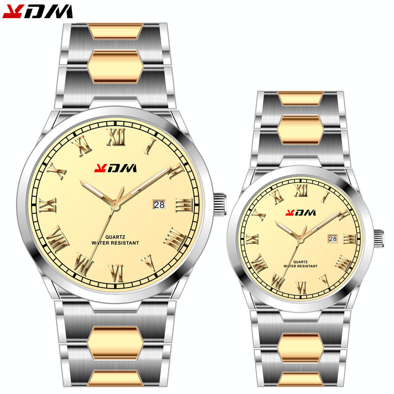 Quartz Couple Watch Long Life Couples Watches Lovers Best Christmas Gift Birthday Present Reloj Para Parejas Luxury Steel Reloj