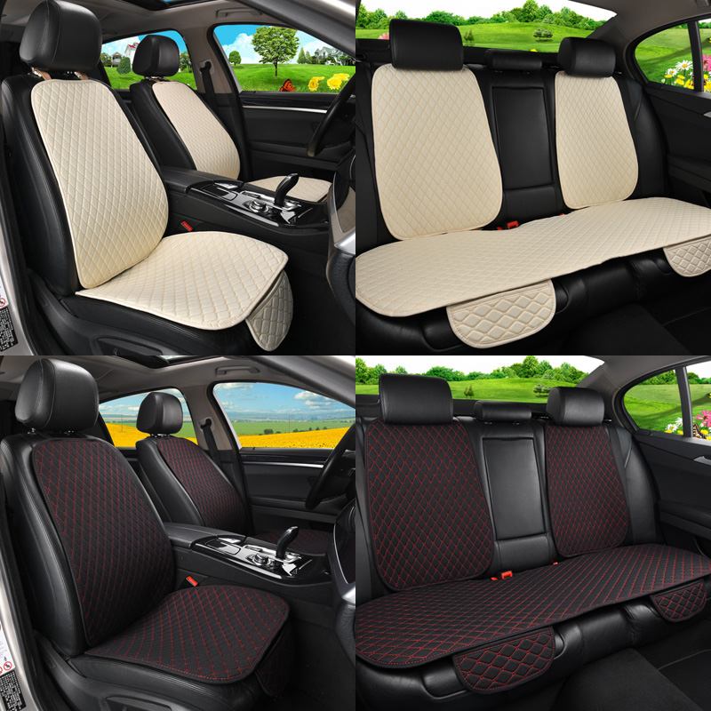 Car Seat Cover Protector Auto Flax Front Back Rear Backrest Seat Cushion Pad For Auto Automotive Interior Truck Suv Or Van