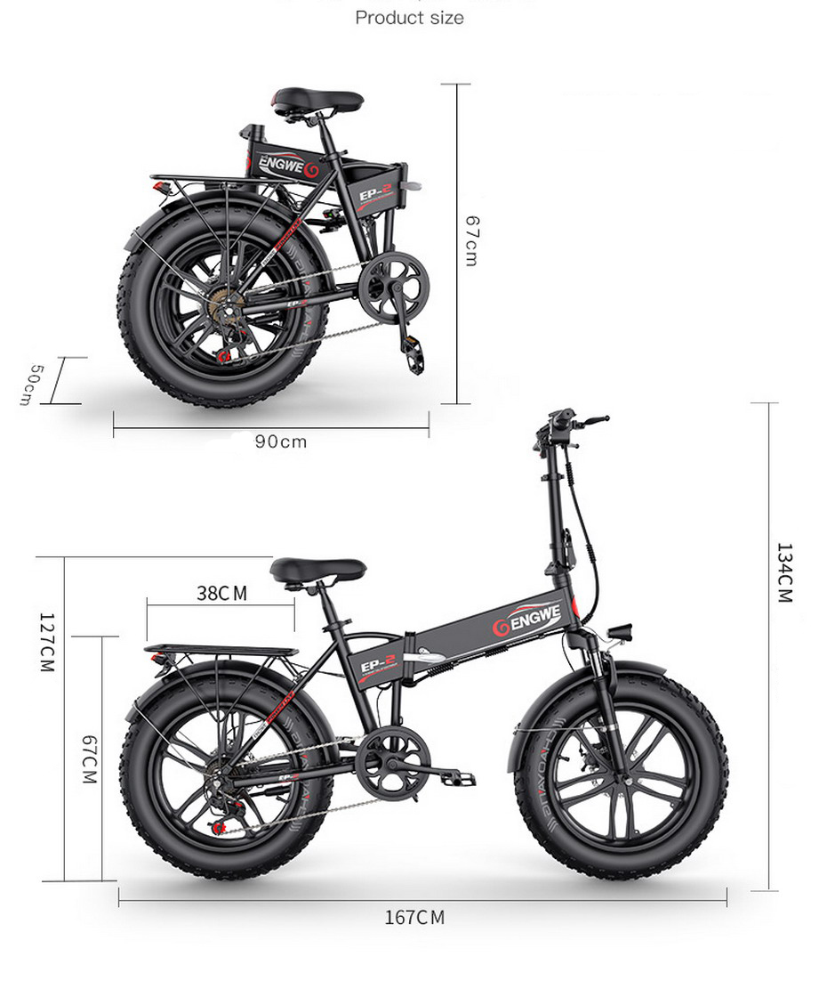[US STOCK] ENGWE EP-2 Electric bike 48V12.5A 20*4.0 Fat Tire electric Bicycle Aluminum 500W Powerful Mountain Waterproof ebike