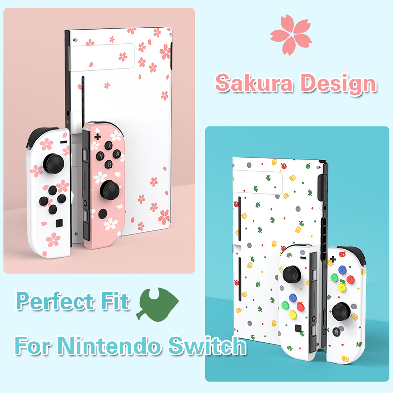Nintend Switch NS Joy Con Replacement Housing Shell Cover For Nintendo Switch NX JoyCons Controller Console Sakura Pink White Re