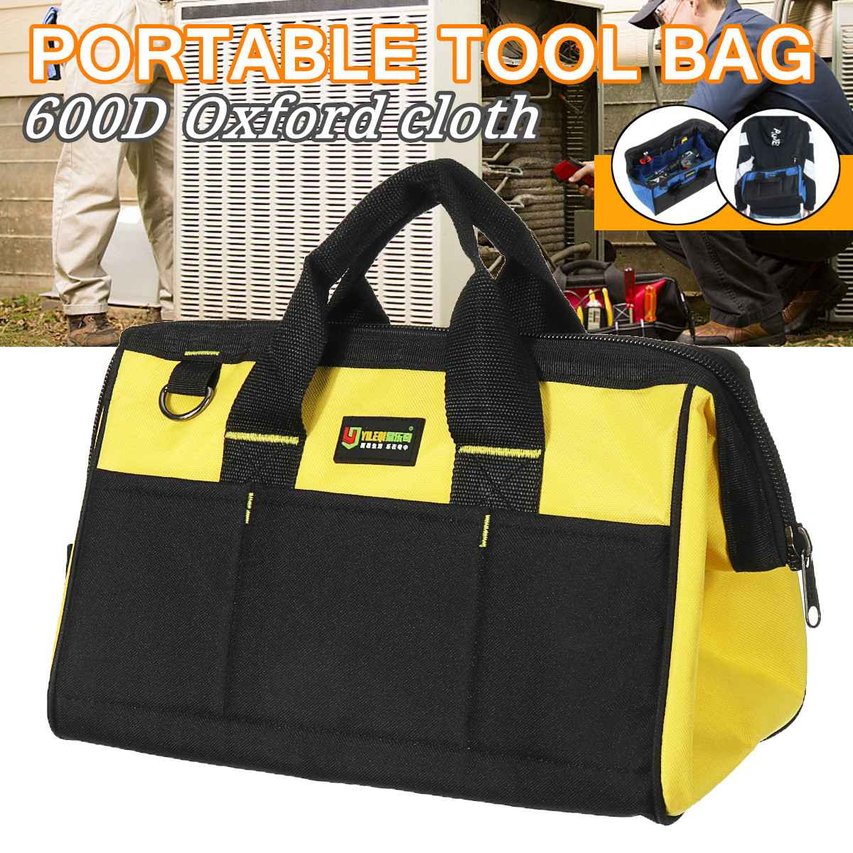 Chisel Toolkit-Instrument Case Pocket-Pouch Tool Waterproof Pouch Screwdrivers-Pliers Parts-Organizer Case Drill-Bit Pouch Bags