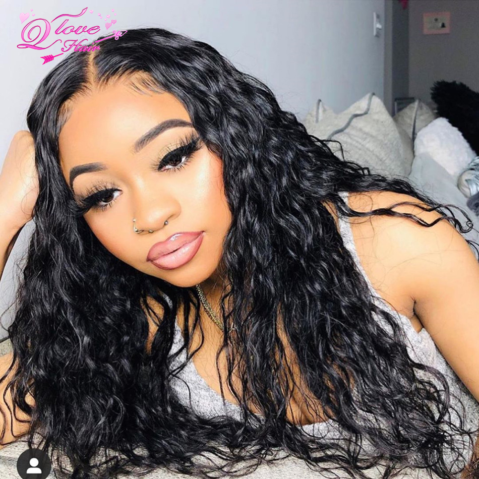 Water Wave Lace Front Wigs 13x4/13x6 Lace Wigs Brazilian Remy Hair Human Hair Wigs For Women Transparent Lace Pre Plucked Hair
