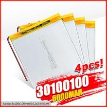 6000mah 3,7 v 30100100 polymer lithium-ionen batterie backup power lithium-batterie für tablet wiederaufladbare LIPO batterie