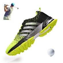 Homens sapatos de golfe respirável verão ao ar livre grama caminhada tênis de golfe profissional homem negócios lazer sapatos golfe