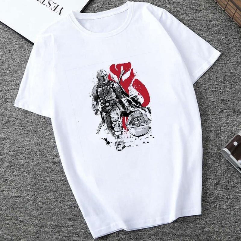 Showtly  2019 Cool STAR WARS Men/Women Cute Tiny Yoda Kids Printed T-shirt  Fantastic Mandalorian Baby  Design Tee Tops