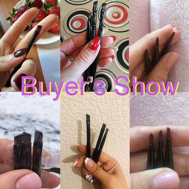 3pcs/set Eyebrow brush Eye brushes set eyeshadow Mascara Blending Pencil brush Makeup brushes MakeUp Tools  H517 1