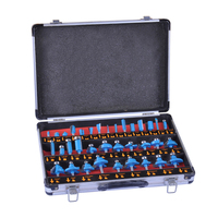 35 Pcs 1/4 Inch Router Bits With Carry Case Alloy Shank Router Bit Set Woodworking Milling Cutter Tools Milling Cutter Set Trimm