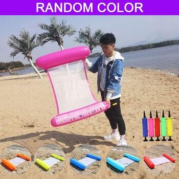 Hamaca de agua para piscina, colchón de aire de playa, tumbona flotante para dormir, colchón de aire inflable plegable, silla de cama