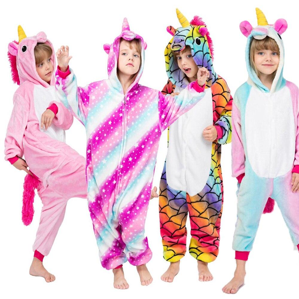 Kids Unicorn Pajamas Kigurumi Children Kigurumi Animal Pajamas Mermaid Pajamas Baby Onesie Winter Unicorn Onesie For Kids Zebra