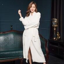Ночная сорочка пижамы для женщин осень зима фланель удлиненный