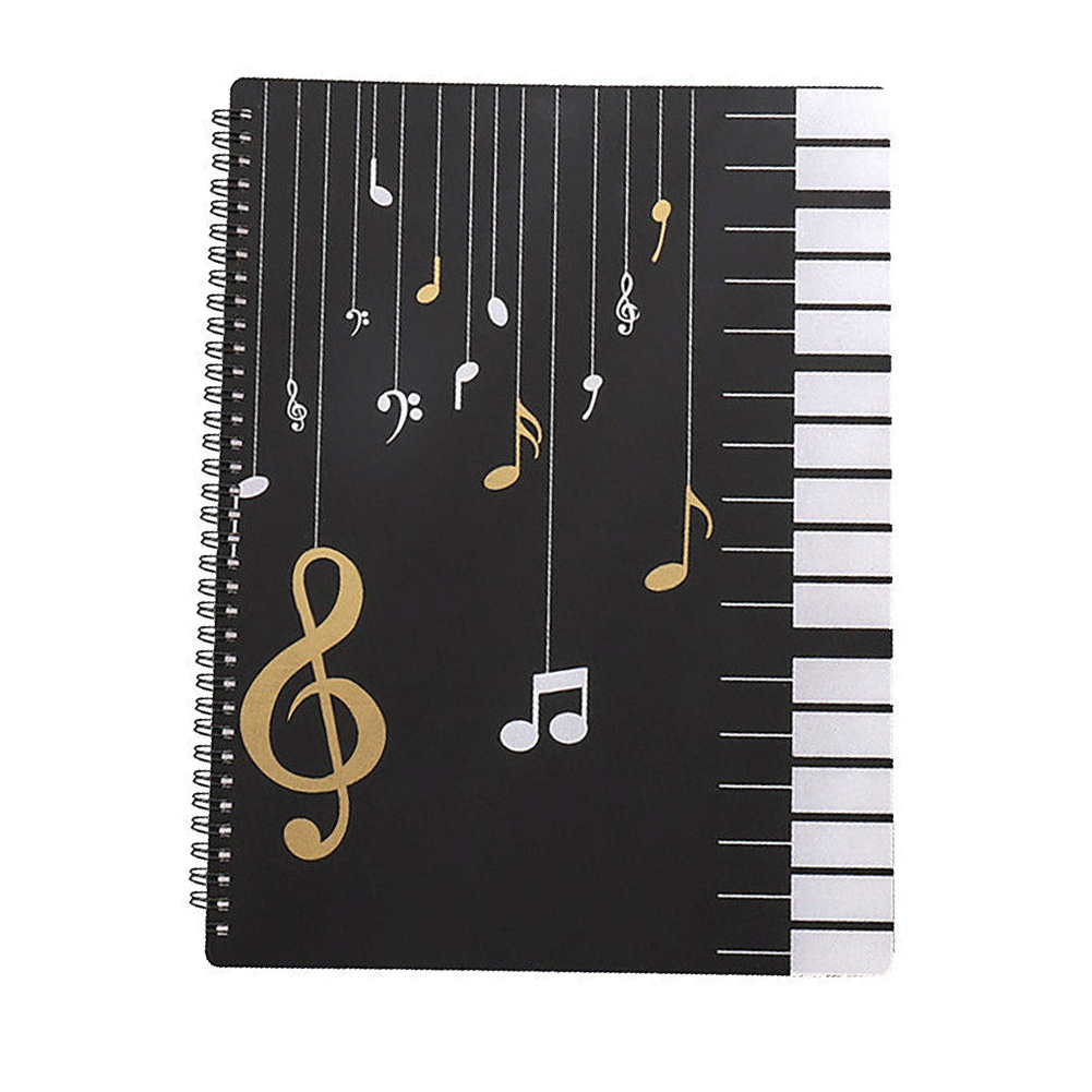 20pages Home Documents Storage Office Paino Music Sheet Folder Multifunction Score Paper File Holder Students Study A4 Beginners