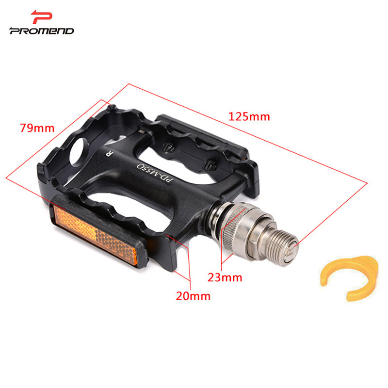 Купить с кэшбэком PROMEND Quick Release Bicycle Pedal Ultralight Bike Cycle Pedal Mtb Pedals Bearing Aluminium Alloy Mountain Bike Pedals
