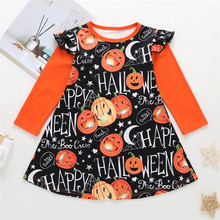 Get more info on the 2019 Fashion Toddler Kids Baby Girls Long Sleeve Cartoon Halloween Print Princess Dress