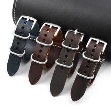 Ремешок из натуральной кожи для наручных часов винтажный сменный